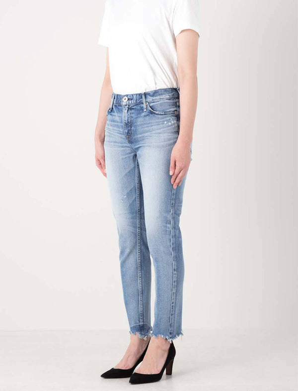 The Stella Midrise Boyfriend Skinny Jeans in Sun Destroyer