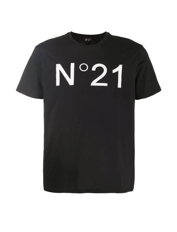 Logo Cotton Jersey T-Shirt In Black