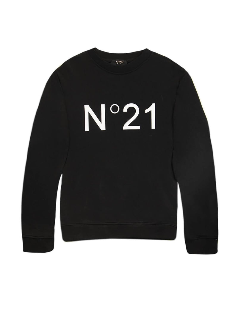 Logo Cotton Sweater In Black