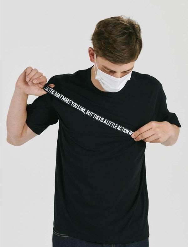 Charity Covid-19 Cotton T-Shirt In Black - CLOSET Singapore