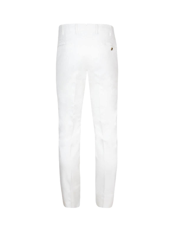 Super Slim Fit Cotton Pants In White