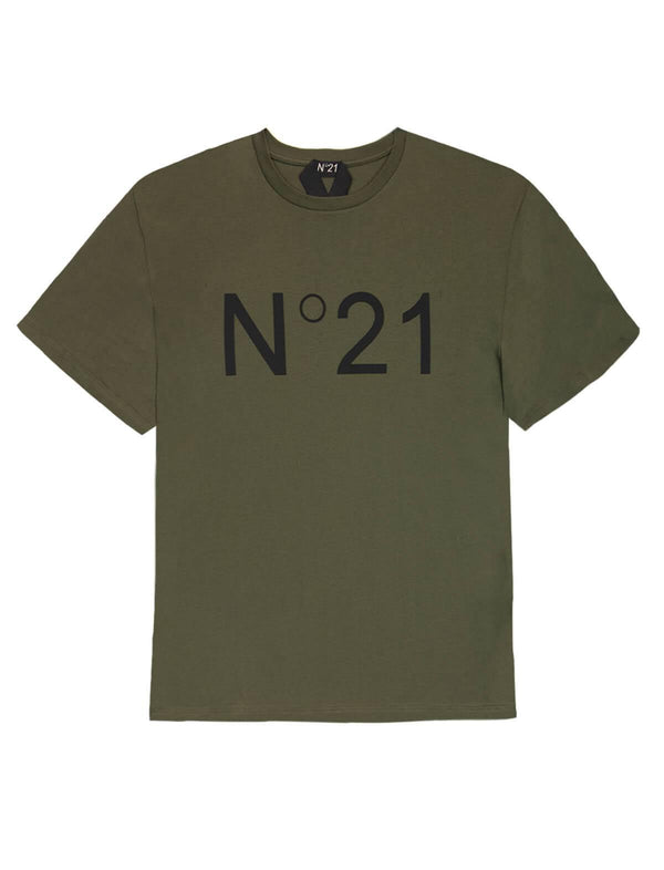 Logo Cotton Jersey T-Shirt In Green