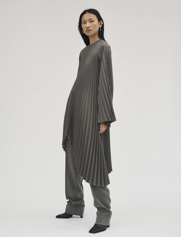 Filla Dress In Pewter Grey