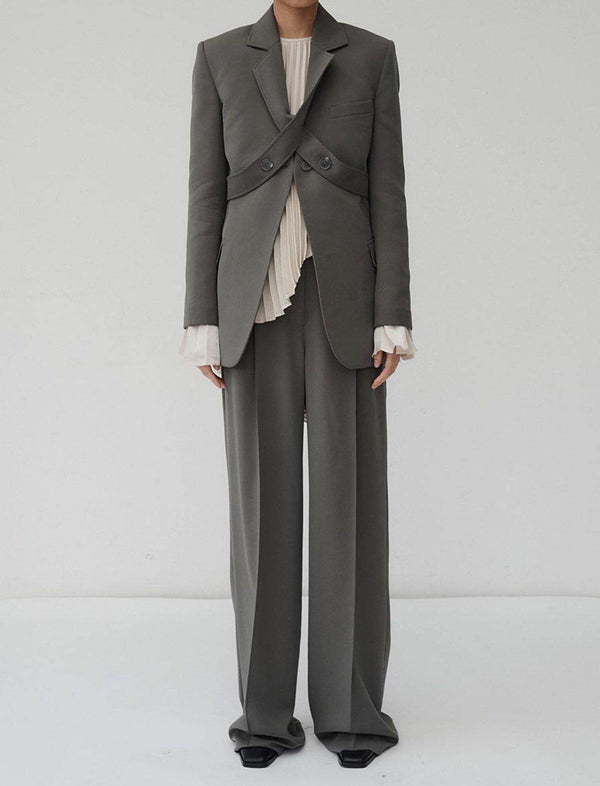 Burnell Trouser in Pewter Grey - CLOSET Singapore