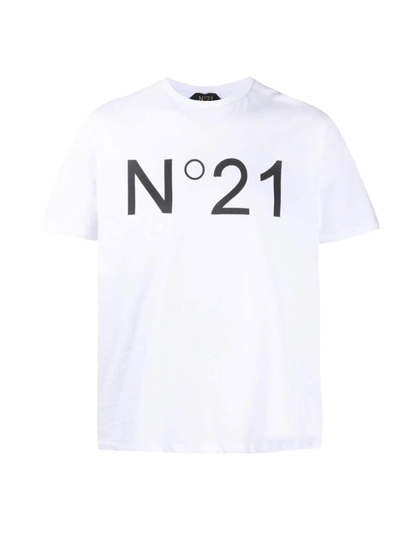 Logo Cotton Jersey T-Shirt In White