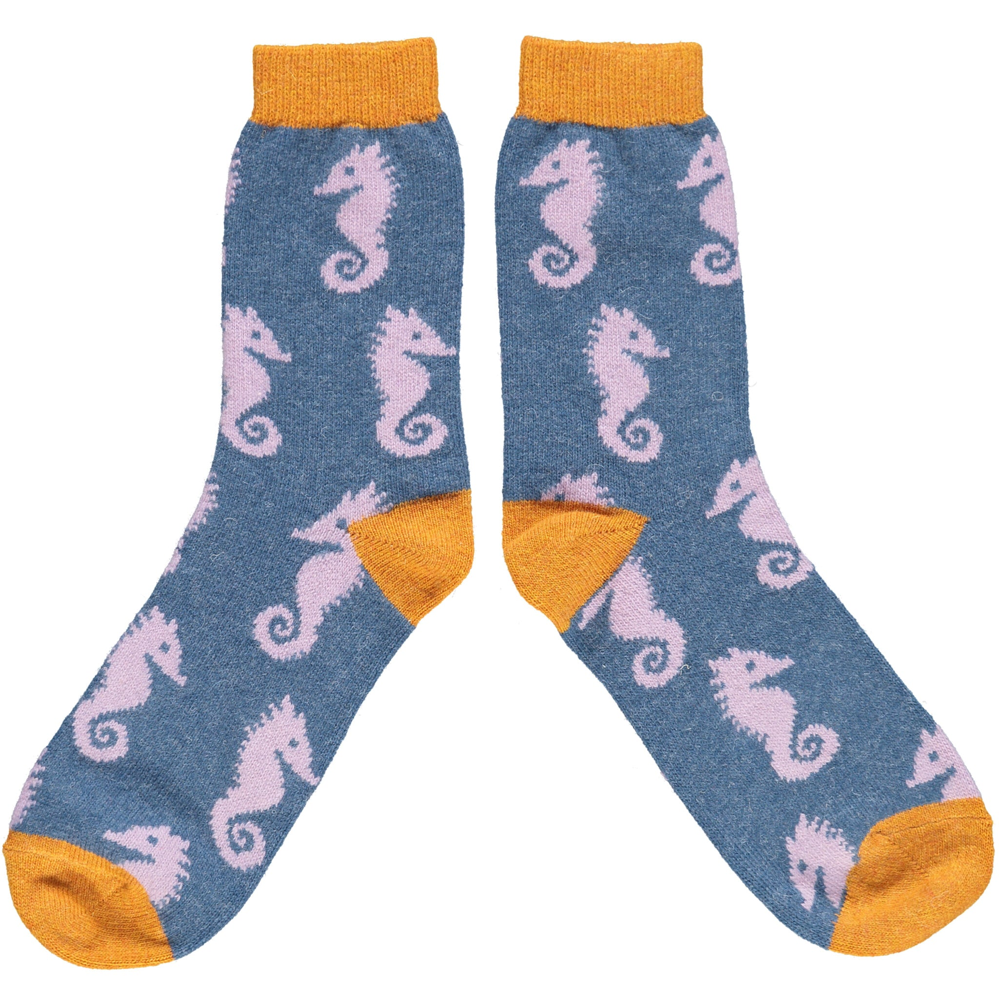 Lilac Seahorse Lambswool Ankle Socks
