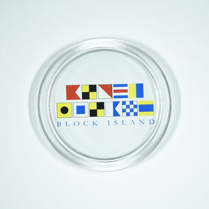 Signal Flags Block Island Coaster