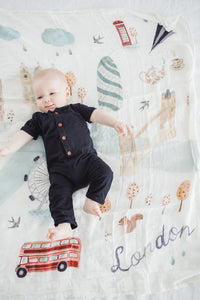 London Swaddle Blanket