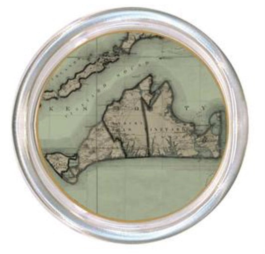 Martha's Vineyard Vintage Map Coaster