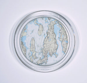 Newport Nautical Map Coaster