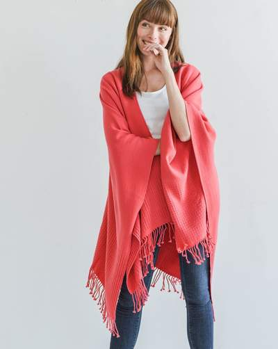 The Classic Wrap in Poppy