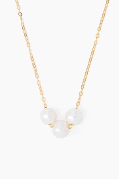 White Pearly Trinity Necklace