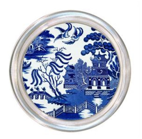 Blue Willow Glass Coaster