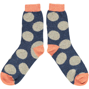 Dot Lambswool Sock