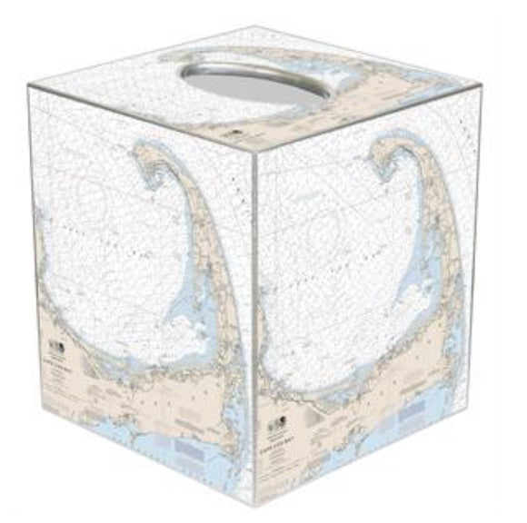 Cape Cod Nautical Tissue Box Cover