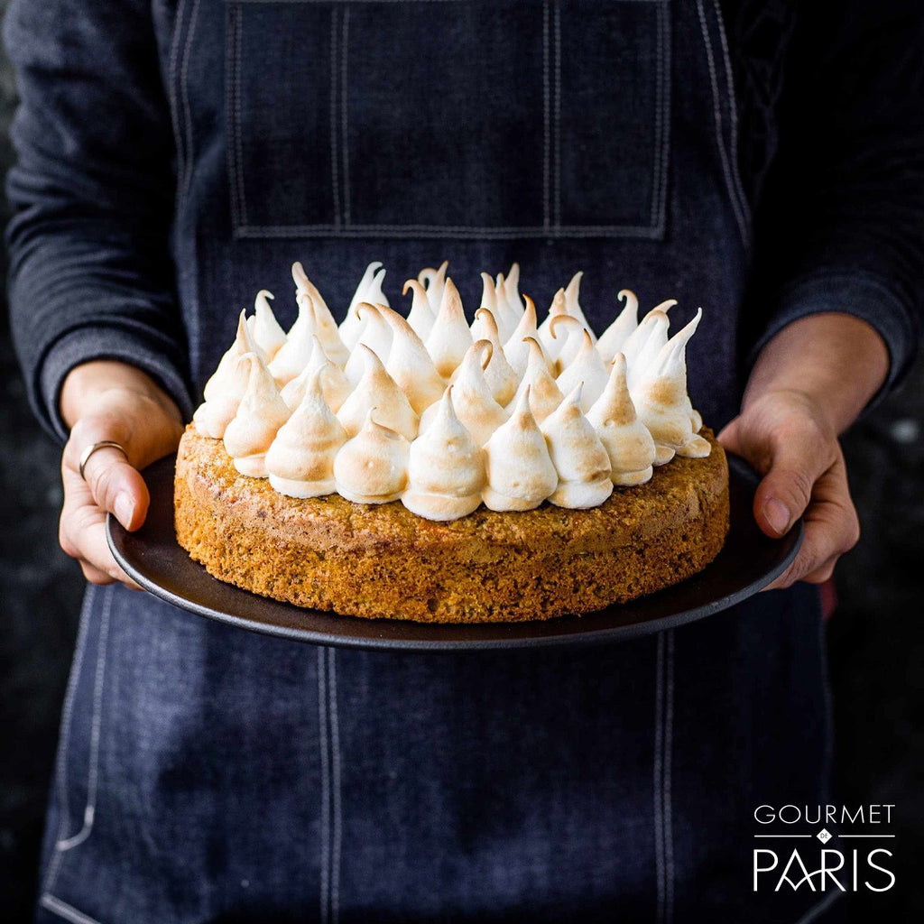Gluten-free Carrot Cake with Toasted Marshmallow Icing