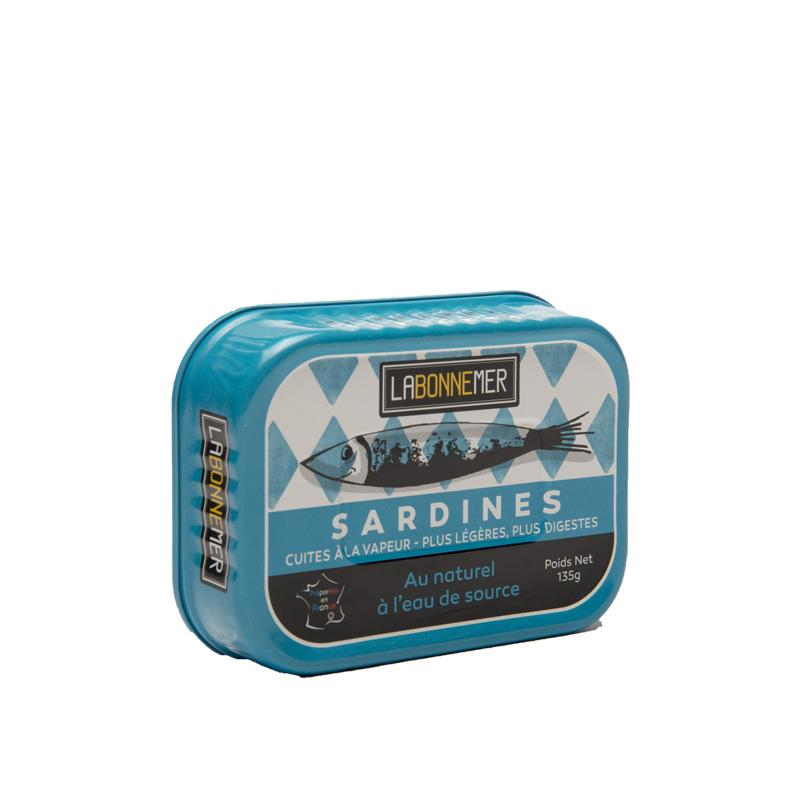 Sardines in Spring Water 135g La Bonne Mer - Gourmet de Paris : French Food