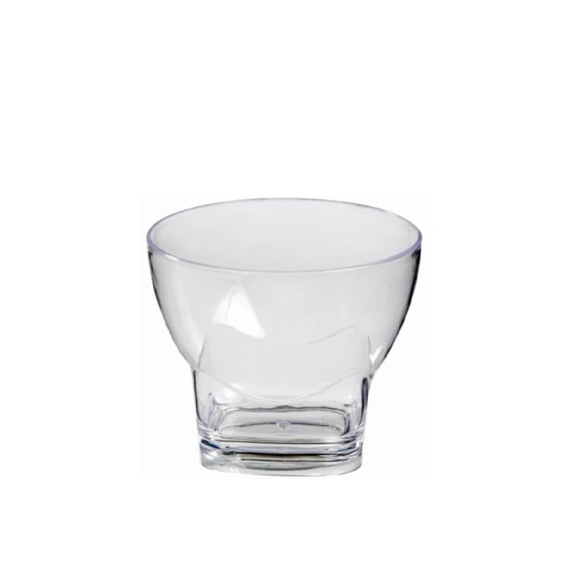 Bubble Glass Clear Square Base 80ml 20pcs - Gourmet de Paris : French Food