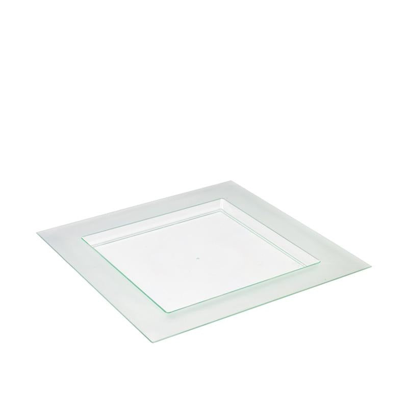 Diamant Plate Transparent Green 100pcs - Gourmet de Paris : French Food