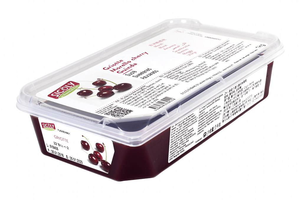 Morello Cherry Puree 1kg Sicoly - Gourmet de Paris : French Food