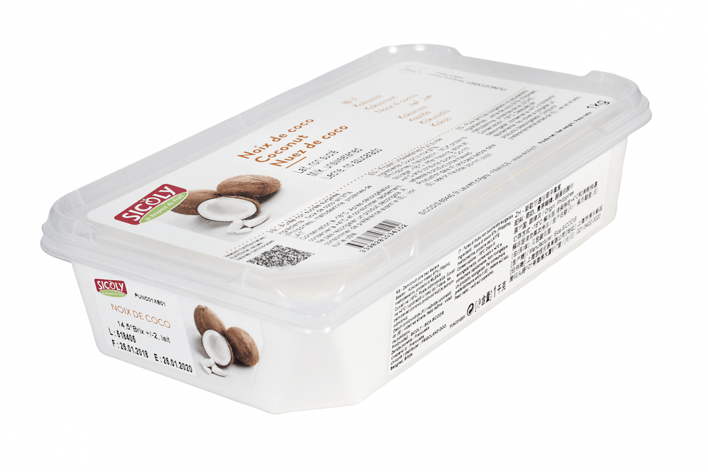 Coconut Purees 1kg Sicoly - Gourmet de Paris : French Food