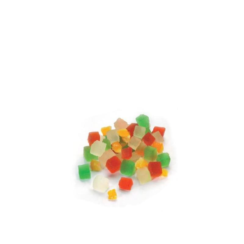 Mixed Fruit Cube (4 Types) Drained 5kg - Gourmet de Paris : French Food