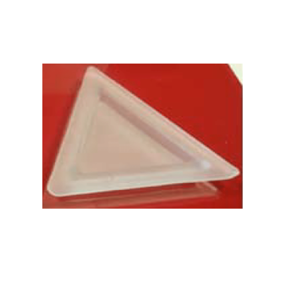 Triangular Etoil Plate Frosted Effect 144pcs - Gourmet de Paris : French Food