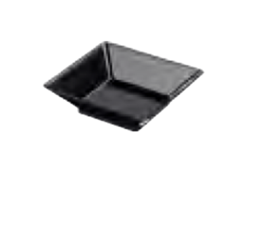 Mini Square Plate Black 1000pcs - Gourmet de Paris : French Food