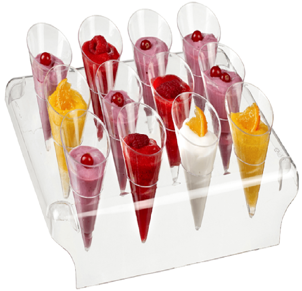 Small Cone Stand 12 Holes x 5 + 60 cones - Gourmet de Paris : French Food