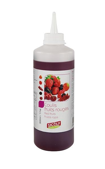 Red Fruits Mix Coulis 500g Bottle Sicoly - Gourmet de Paris : French Food