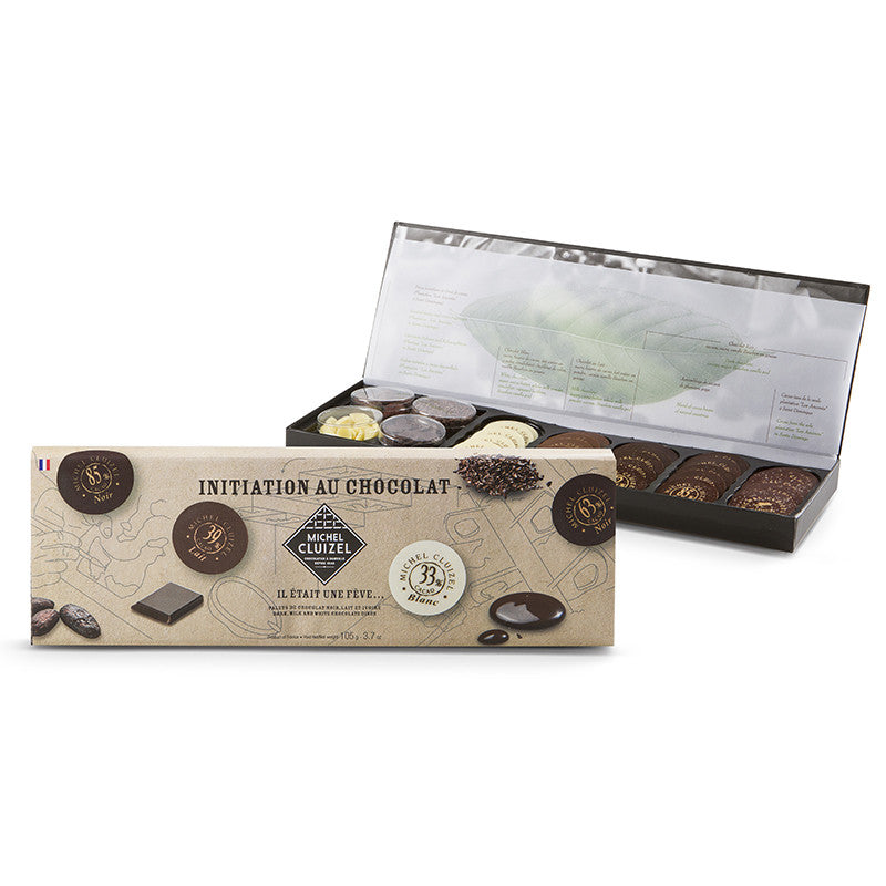 Gift Boxed Dark, Milk & White Choc Discs 105g