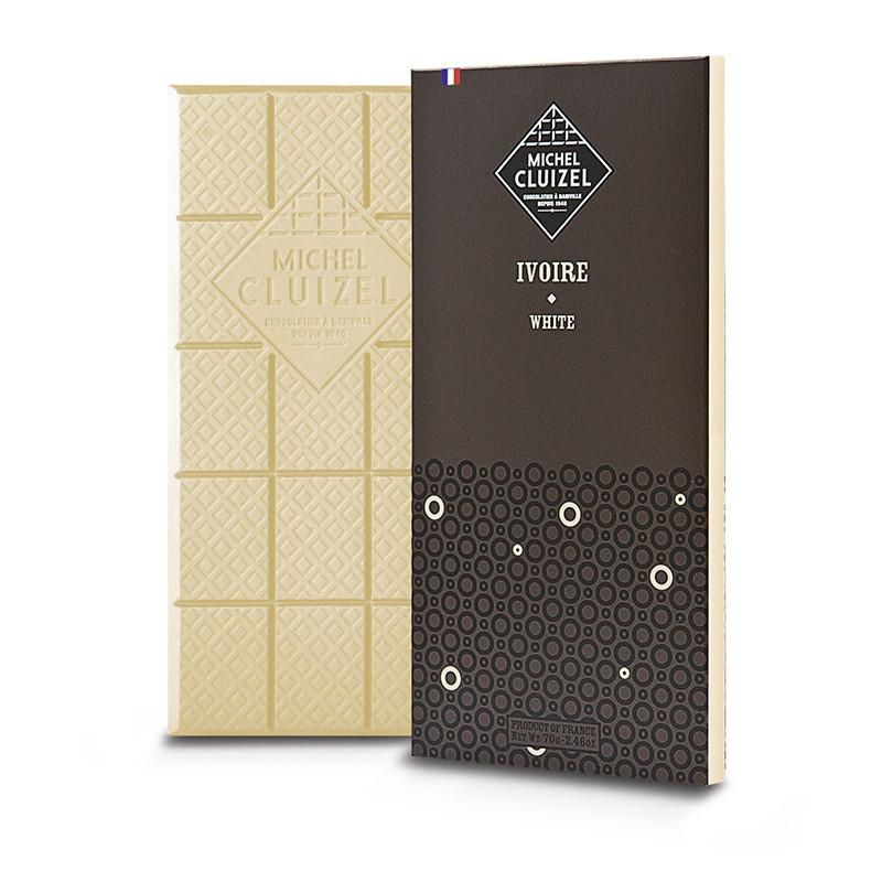 Ivoire White 33% 70g Tablet - M. CLUIZEL - Gourmet de Paris : French Food