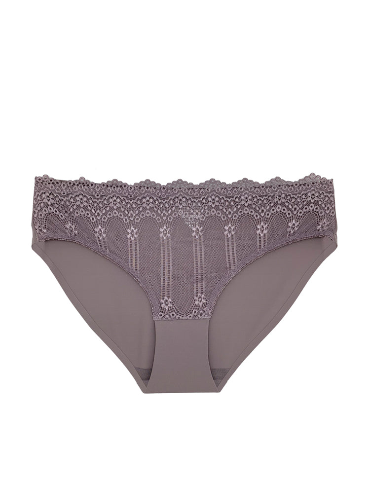 mina panty- This panty is solid all-around, apart from beautiful and intricate floral lace and strappy hip designs!