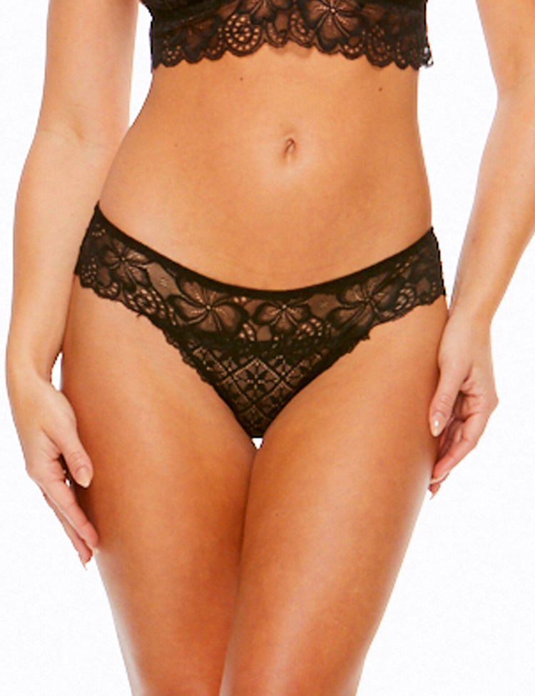halsey bikini- all-around floral lace panty