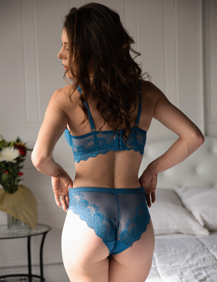 avery bikini-Solid front with a lace floral back, this is an absolutely comfortable and elegant panty! You'll also find a soft, thin floral lace that overlaps the front, which is designed to be ultra-flattering!