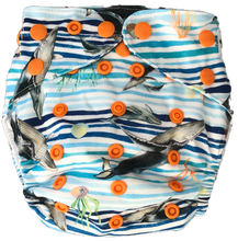 Load image into Gallery viewer, whale themed nappy uk