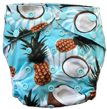 Load image into Gallery viewer, Pineapple Coconut Cloth nappy UK