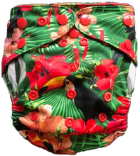 Load image into Gallery viewer, Jungle Toucan UK Cloth Nappy