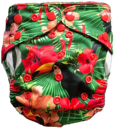 Jungle Toucan UK Cloth Nappy