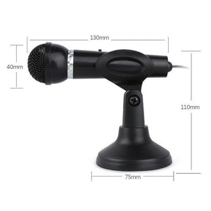 New Condenser Microphone 3.5mm Plug Home Stereo MIC Desktop Stand for PC YouTube Video Skype Chatting Gaming Podcast Recording