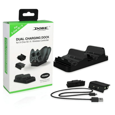 Dual Charging Dock Station Charger with 2 Rechargeable Batteries Fast Charging for Xbox One S Gamepad Game Accessories