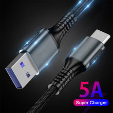 Load image into Gallery viewer, EONLINE 5A USB Type C  High quality Fast charging cable for Samsung S8 S9 S10 Huaweis Xiaomi OnePlus 2 ZUK Z2  quick charger 1M