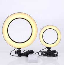 Load image into Gallery viewer, High quality led photography  live 3500K-8500K  tiktok makeup phone ring light 8inch selfie led camera light