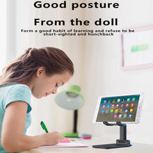 Load image into Gallery viewer, Luxury Telescopic Folding Smart Phone Tablet Stand Adjustable Holder For iPhone Samsung Huawei Xiaomi Oneplus Desktop Support