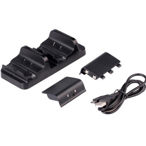 For XBOX ONE Dual Charging Dock Station Controller Charger w/ 2 Rechargeable Battery For XBOX ONE