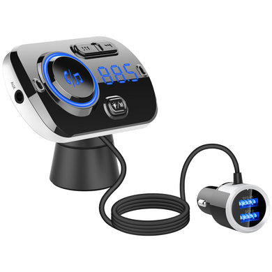Car MP3 Player Wireless Dual USB Bluetooth FM Transmitter with USB Charger