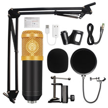 Load image into Gallery viewer, BM-800 Condenser Audio 3.5mm Wired Studio Microphone Vocal Recording KTV Karaoke Microphone Set Mic W/Stand For Computer