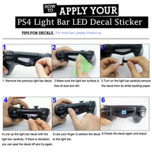 Load image into Gallery viewer, 30/40 pieces in 1 Set LED Light Bar Decal Sticker for PS4 Gamepads Controller for Playstation 4 Light Bar Film Game Accessories