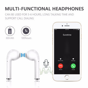i7s TWS Wireless Earphones Bluetooth headphones sport Earbuds Headset With Mic Earpiece For Iphone Xiaomi Samsung Huawei oppo