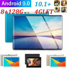 "Load image into Gallery viewer, 10.1"" WIFI/4G-LTE 8G+128G Tablet Android 9.0 HD PC bluetooth SIM GPS Dual Camera"